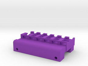 Neoden 6-Gang, 12mm feeder block in Purple Processed Versatile Plastic