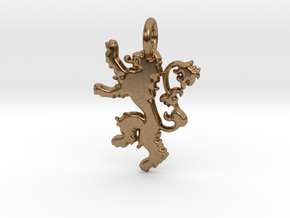 Lannister Sigil Keychain in Natural Brass