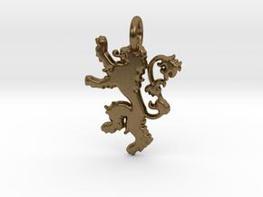 Lannister Sigil Keychain in Natural Bronze