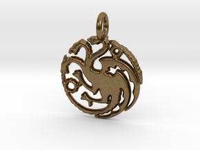 Targaryen Sigil Keychain in Natural Bronze