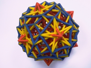 3 edges subsets of the pentagonal hexecontahedron in Full Color Sandstone