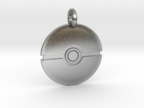 Poké Ball Keychain in Natural Silver