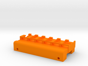 Neoden 6-Gang, 16mm feeder block in Orange Processed Versatile Plastic