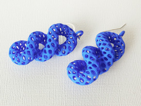 Cruller Plastic Earrings in Blue Processed Versatile Plastic
