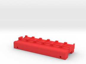 Neoden 6-Gang, 24mm feeder block in Red Processed Versatile Plastic