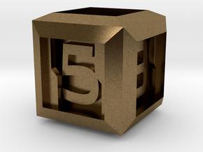 Sci-fi Crate D6 - 16mm die in Natural Bronze