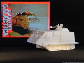 Landram, Move-able Turret (Battlestar Galactica) in White Strong & Flexible: 1:72