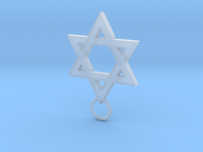Star of David 2mm in Smooth Fine Detail Plastic