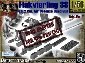 1-56 Flakvierling 38 in Transparent Acrylic