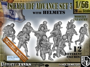 1-56 IDF HELMET ADVANCE SET 5 in Smooth Fine Detail Plastic