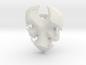 """BotW"" Savage Lynel Shield in White Natural Versatile Plastic: 1:12"