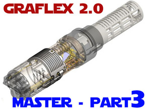 Graflex2.0 - Master Chassis - 3/7 Shell 2 in White Natural Versatile Plastic