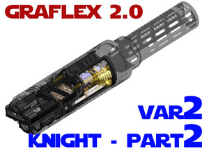 Graflex2.0 - Knight Chassis Variant 2 - Part2 in White Natural Versatile Plastic