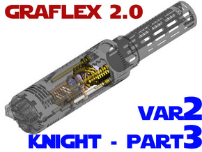 Graflex2.0 - Knight Chassis Variant 2 - Part3 in White Natural Versatile Plastic