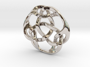 celtic knot 30mm in Rhodium Plated Brass