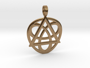 TRI-HEARTRINGS in Natural Brass