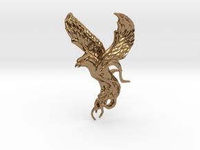 Phoenix in Natural Brass