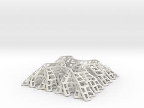 Sierpinski Square-Filling Fractal in White Natural Versatile Plastic