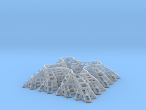 Sierpinski Square-Filling Fractal in Smooth Fine Detail Plastic