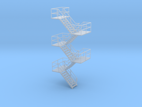 HO Staircase 94.3mm in Smooth Fine Detail Plastic