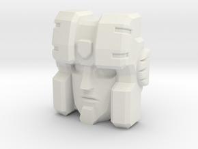 Hound Faceplate for Titans Return in White Natural Versatile Plastic