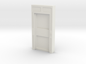 Door, Single Closed No Thrshold (Space: 1999) 1/30 in White Strong & Flexible