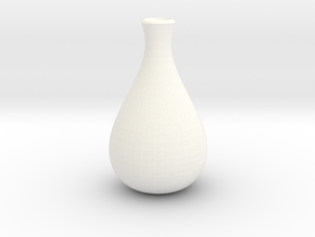 Slender Sake Bottle in White Processed Versatile Plastic