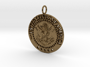 The Great Seal Pendant in Natural Bronze