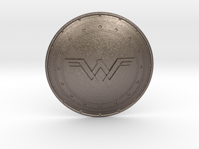 Wonder Woman's Shield in Polished Bronzed Silver Steel
