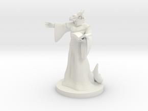 Dragonborn Warlock (Male) in White Strong & Flexible
