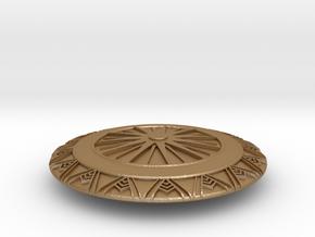 Wonder Woman's Second Shield in Matte Gold Steel