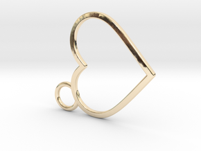 Curved Heart in 14K Yellow Gold