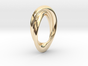 Twisted Loop Pendant in 14k Gold Plated Brass