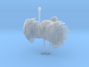 Ostrich 1:22 Wings Spread in Smooth Fine Detail Plastic