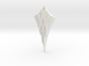 Flow Pendant 3 in White Natural Versatile Plastic