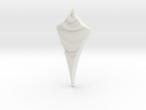 Flow Pendant 6 in White Natural Versatile Plastic