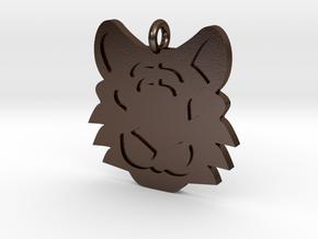 Tiger Pendant in Polished Bronze Steel