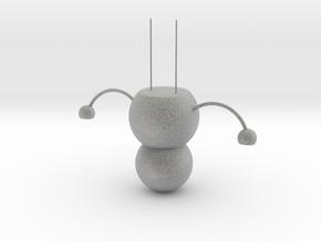 Snowman chandelier in Metallic Plastic: Large