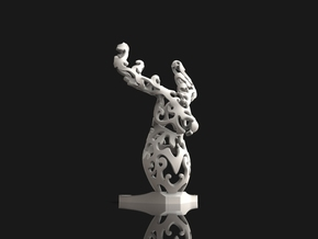 Deer sculpture in White Processed Versatile Plastic