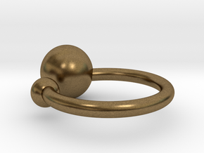 Bubble Ring in Natural Bronze: Small