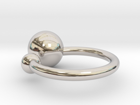 Bubble Ring in Rhodium Plated Brass: Small