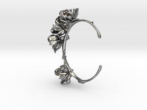 Cherry Blossom Bracelet in Polished Silver: Medium