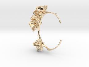 Cherry Blossom Bracelet in 14k Gold Plated Brass: Medium