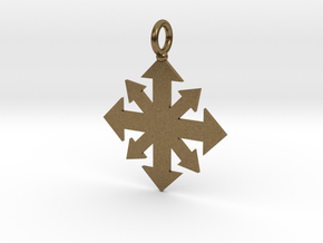 Simple Chaos star pendant  in Natural Bronze
