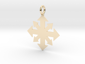 Simple Chaos star pendant  in 14K Yellow Gold