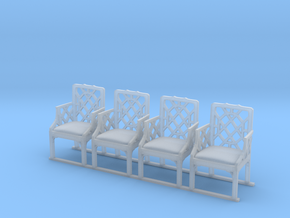 ArmChair 01. 1:24 Scale in Smooth Fine Detail Plastic