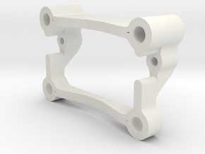 MO5-1.1 - TL-01 - Rear stabiliser mount  in White Natural Versatile Plastic
