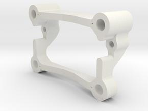 MO5-1.1|TL-01|Rear brace an stabiliser mount  in White Natural Versatile Plastic