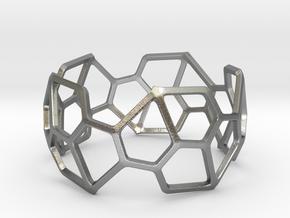 Catalan Bracelet - Pentagonal Hexecontahedron in Natural Silver: Large