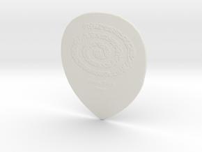 Raw Pick Prototype 1mm Concrete in White Natural Versatile Plastic